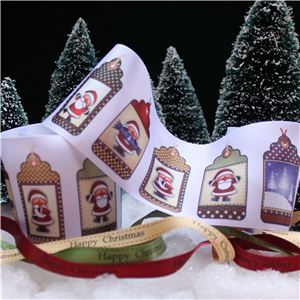 Christmas Ribbon - Santa Tags