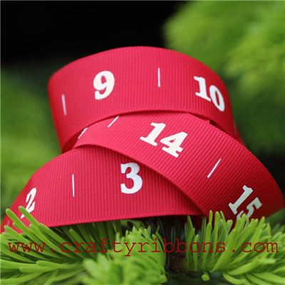 Advent Number Ribbon - Nordic Scarlet