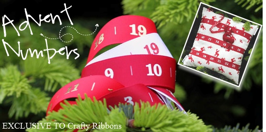 advent number ribbons