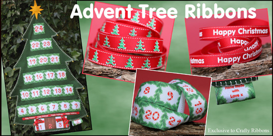 advent tree ribbons