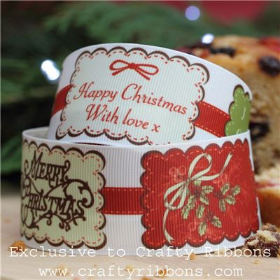 Christmas Charm Ribbon - Badges