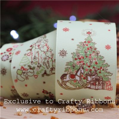 Christmas Charm Ribbon - Trees