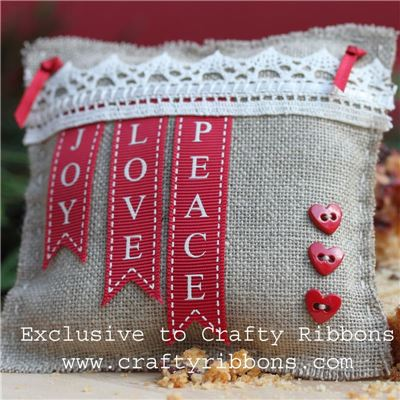 Christmas Charm Ribbon - Joy Love Peace Kit