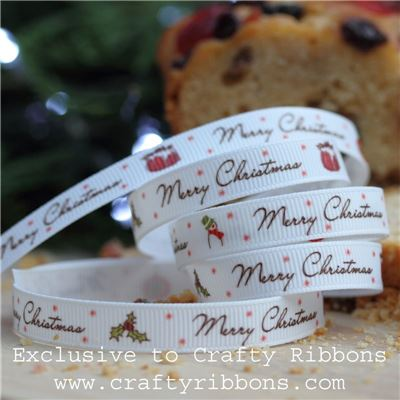 Christmas Charm Ribbon - Merry Christmas