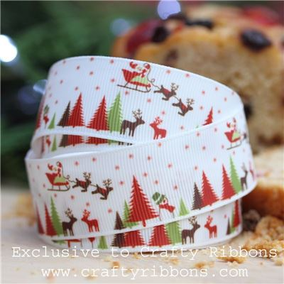 Christmas Charm Ribbon - Winter Scene