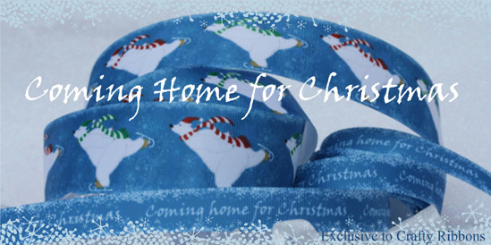 coming home for christmas ribbon