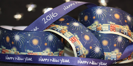 happy new year ribbon