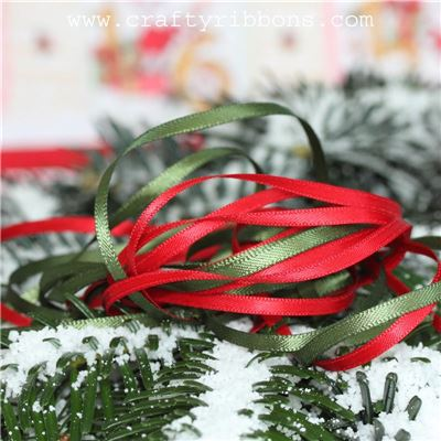 Santas Grotto - 3mm Satin Ribbon