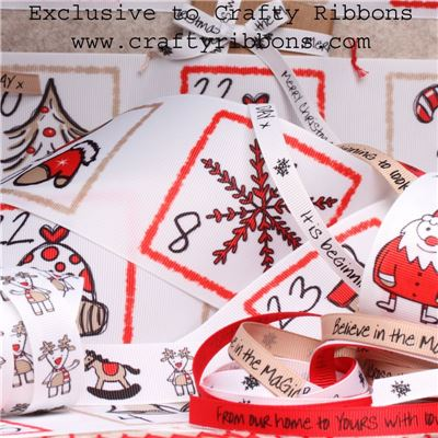 Christmas Doodle - WANT IT ALL with Advent Ribbons