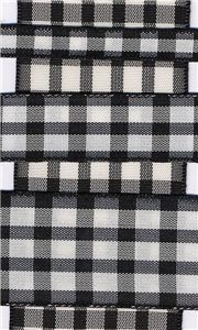 Country Check - Black/White