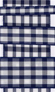 Country Check - Navy/White
