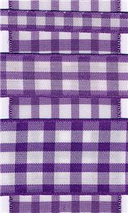 Country Check - Purple/White