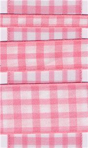 Country Check - Pink/White