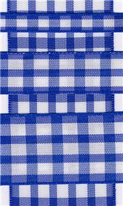 Country Check - Royal/White