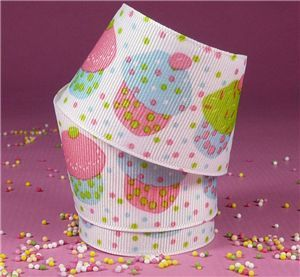 Sweet Treats Ribbon - Vanilla Cupcakes