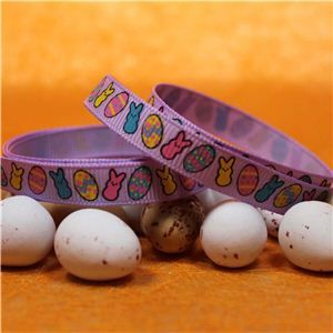 Easter Ribbon - Bunny & Egg/Lilac