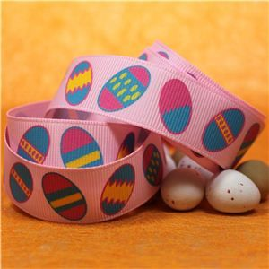Easter Ribbon - Easter Eggs/Pink
