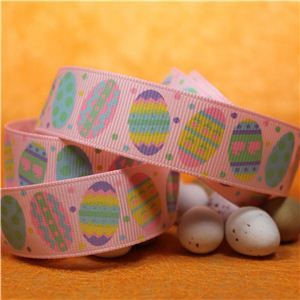 Easter Ribbon - Easter Eggs/Lt Pink