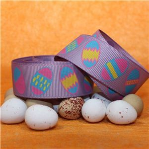 Easter Ribbon - Easter Eggs/Lilac