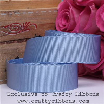 Patchwork Rose Ribbon - Cornflower
