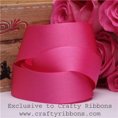 Patchwork Rose Ribbon - Shocking Pink