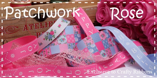 Patchwork rose ribbon
