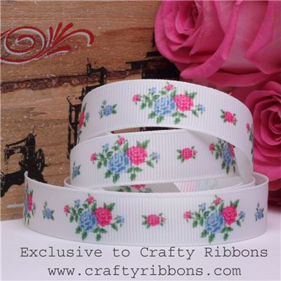 Patchwork Rose Ribbon - Flowers