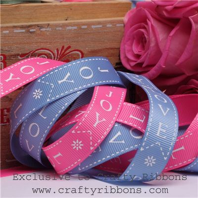 Patchwork Rose Ribbon - Peace Love Joy