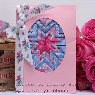 Patchwork Rose Ribbon - Somerset Card