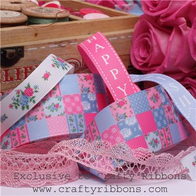 Patchwork Rose Ribbon - WANT IT ALL