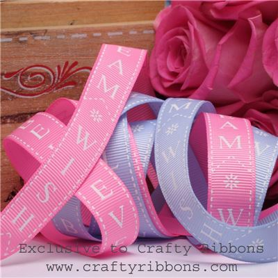 Patchwork Rose Ribbon - Dream Wish Believe