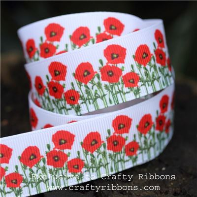 Spring Ribbons - Poppies