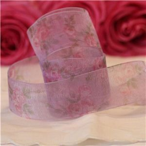 Vintage Rose Ribbon - Purple/Purple