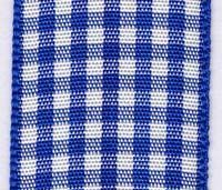 23mm Gingham Ribbon - Royal
