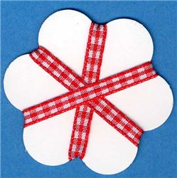 5mm Gingham Ribbon - Red/White