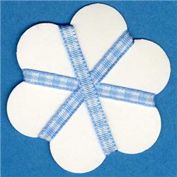 5mm Gingham Ribbon - Sky/White