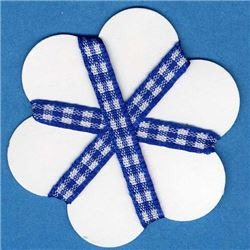 5mm Gingham Ribbon- Royal/White