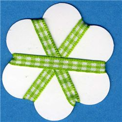 5mm Gingham Ribbon - Lime/White