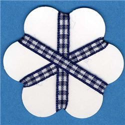 5mm Gingham Ribbon - Navy/White