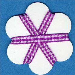 5mm Gingham Ribbon - Violet/White