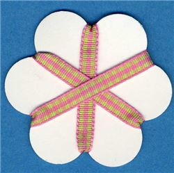 5mm Gingham Ribbon - Peony/Sea Foam