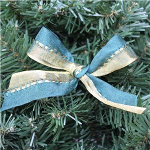 Gold Ribbon - Gold/Green  Two Tone