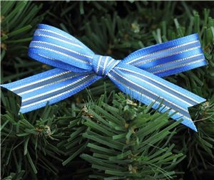 Gold Ribbon - Gold/Blue Satin