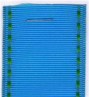 40mm Grosgrain Ribbon  - Turquoise Stab Stitch