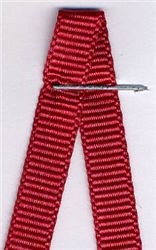 6mm Grosgrain Ribbon -  Cardinal