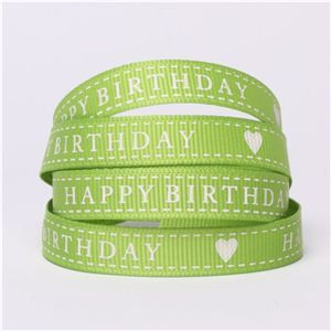 Happy Birthday Ribbon - Apple
