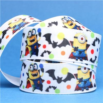 Minion Ribbon - Minions with Bats and Dots