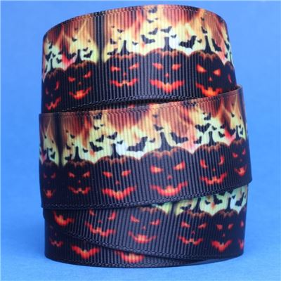 Halloween Ribbon - Pumpkins and Fire