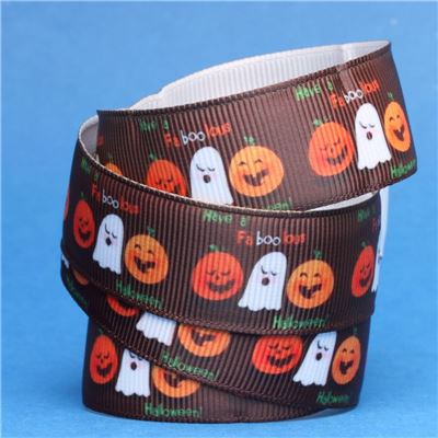 Halloween Ribbon - Pumpkins and Ghosts