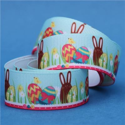Easter Ribbon - Brown Bunny